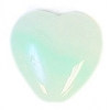 Glass Pressed Beads 10x10mm Heart Mint Green